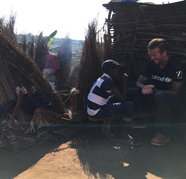 Дэвид Бекхэм поделился с поклонниками вдохновляющими фото со своей поездки в Африку
